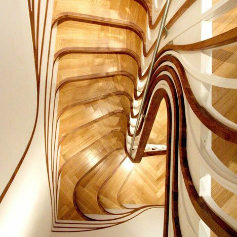 London Architect Alex Haw Of Atmos Studio Designed This Sculptural Wooden  Staircase Art Nouveau Style. The Organic Lines Makes This Stair An.