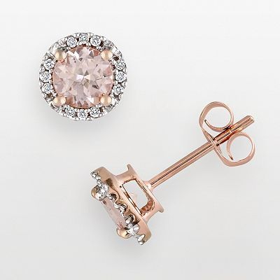 Rose gold studs.