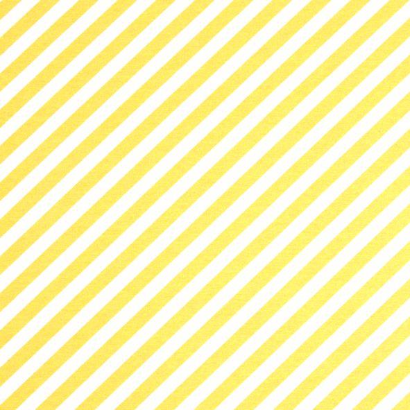 Dekorační látka šikmé pruhy žluté pastelové