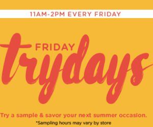It's Today!!!  Sample delicious food at HoneyBaked Ham during their Friday Trydays! Yippee!  Every Friday, HoneyBaked Ham will be offering visitors free samples of a new item during their Friday Trydays event! This Friday, September 15th pop into your local participating HoneyBaked Ham location for your Free Samples of their Catering Trays! YUM! A new free item offered every Friday from 11am – 2pm. *hours may vary by location…