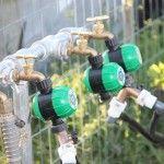 Drip irrigation hose timers