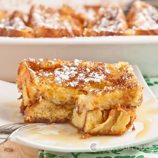 This French Toast Bake is made with thick Texas toast which results in a scrumptious breakfast everyone will love! Be sure to use the Texas toast for this!