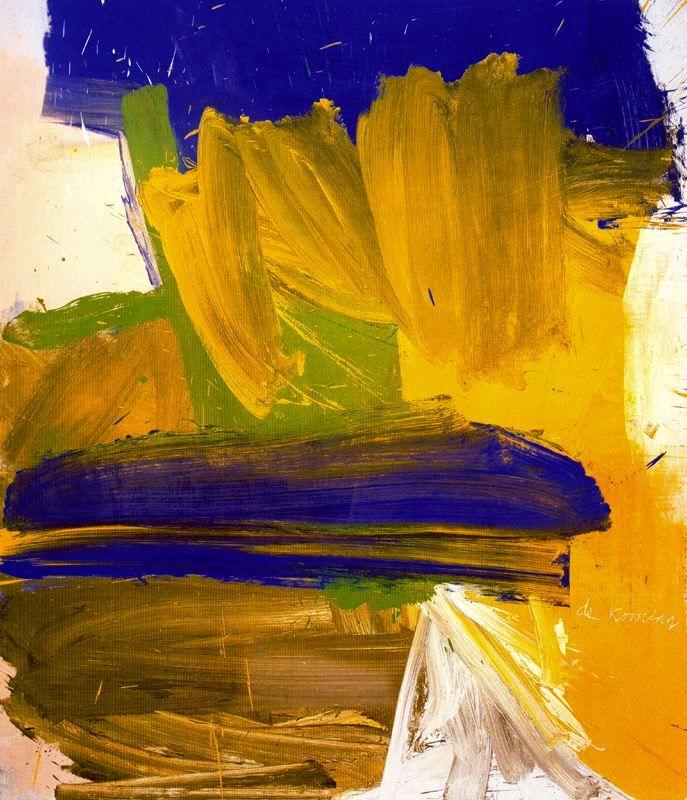 Willem de Kooning yellow