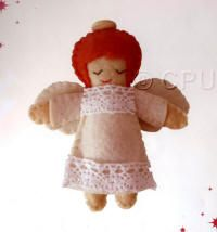 DoCrafts Mini Soft Christmas Kits - Angel.  Perfect for making your own Xmas Tree Decorations. This looks so ...... angelic :-)