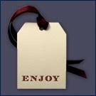 GT4-E-ENJOY - Classic Enjoy Gift Tag