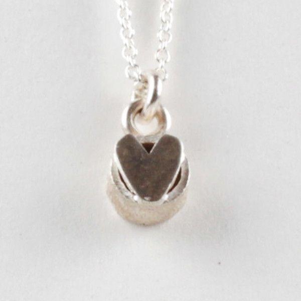 Heart On Top Pendant - Silver   DARKBLACK $190 NZD