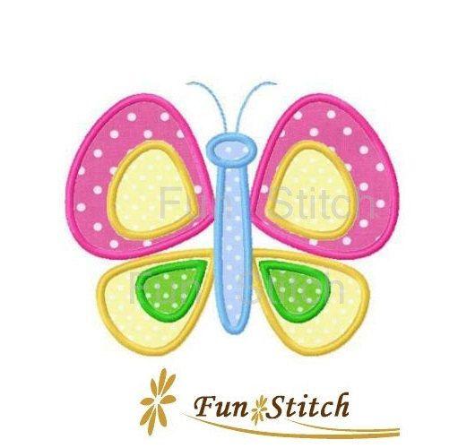 Joli papillon applique machine broderie design par FunStitch