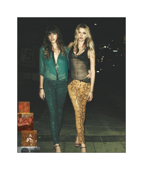gal on left: love the mixing of texture yet keeping it tonal!!! 7 for all Mankind 2012