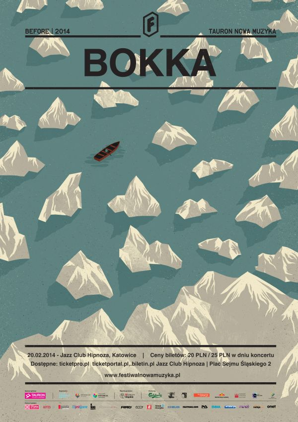 Posters by Dawid Ryski. This poster is simple yet is able to give the viewer the feel of actually being up in the air looking down on the ice bergs and boat. The shadows being cast off of the ice bergs help to convey this look.