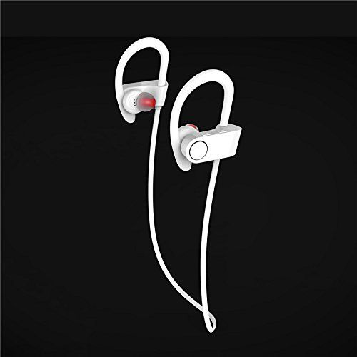 Wireless Bluetooth Stereo Earphone Fashion Headphones Sweatproof [Sports & Running & Exercise] Stereo Earbuds w/Mic - Universal Wireless In Ear Earphones for apple iPhone , Galaxy LG (White). Bluetooth Wireless. Apple power display. Speed Dial. For Sport Running. Long Standby.