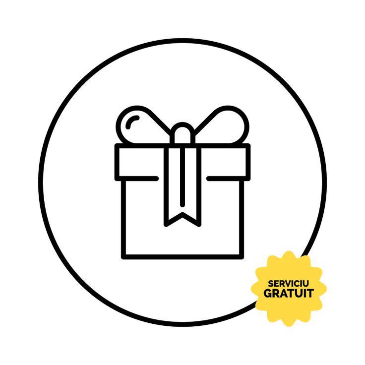 Impachetare de Cadou + Felicitare Gratuite.  Oamenilor le place sa primeasca si sa ofere cadouri. Astfel, noi iti oferim serviciul gratuit de impachetare a cadoului. In plus, atasarea unei felicitari personalizate este de asemenea gratuita. Textul felicitarii poate fi propus de tine sau de noi dupa ce ne oferi cateva detalii despre ocazia acordarii cadoului.