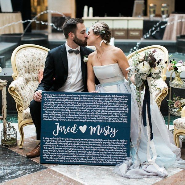 Today on the blog, we're sharing all about one of our all-star alumni vendors. Meet @thestandardcanvas who bases their business around the idea of keeping the sacred vows you make to one another on display as a constant reminder of your love. We have absolutely loved having this adorable married duo at TWELVE of our past events! For the rest of the year, they are generously gifting all of our featured couples with a custom vow canvas! We are thankful to know them and proudly wave their flag…
