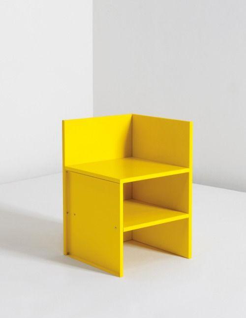 "DONALD JUDD ""Corner Chair 46,"" 1990"