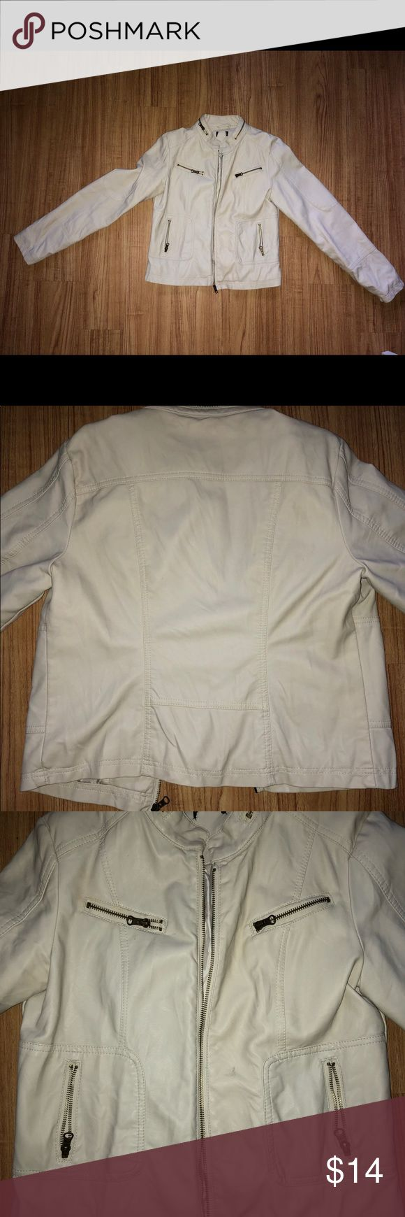 Faux leather jacket Faux leather jacket. Size medium