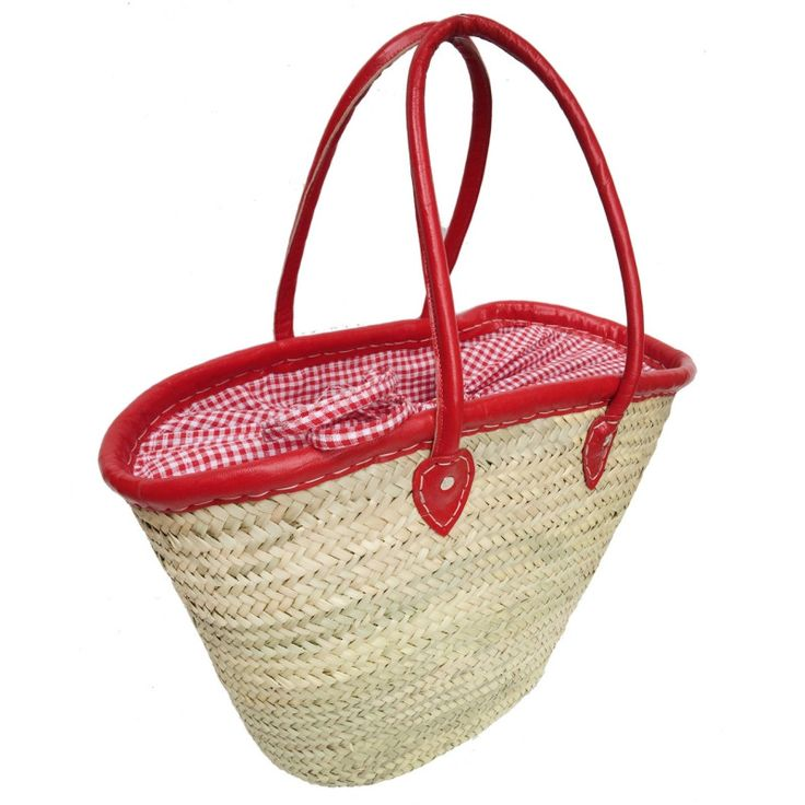 French Picnic Basket with leather handles - Madison