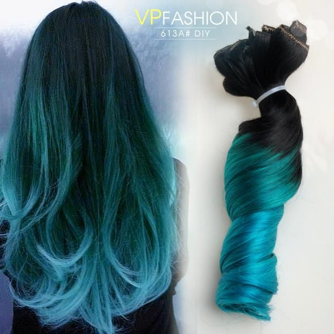 gray haircuts black to teal green to teal blue mermaid colorful ombre 2034