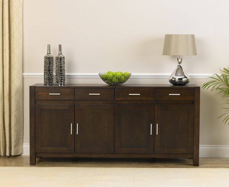 Buy the Verona 180cm Dark Oak Sideboard at Oak Furniture Superstore