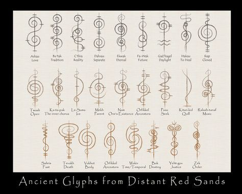 Faux Ancient Vulcan Script by ~Trish2 on deviantART