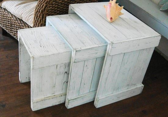 pallet nesting tables