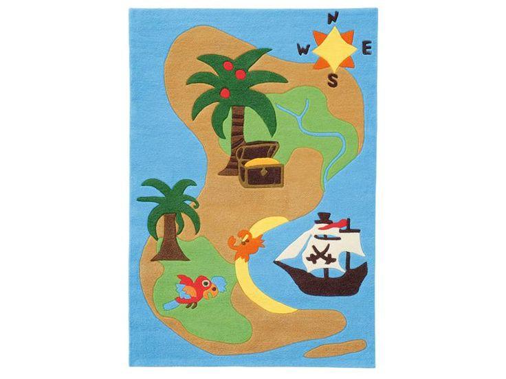 Dětský kusový koberec Ostrov Joy 4026/52, modrý
