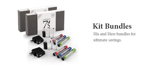 """(7's His and Hers Hybrid Kit Bundle for electronic cigarette smokers that are looking for a longer lasting smoke. Manufactured to meet the demands of the discrimating smoker, the Hybrid is full of flavor. With """"Enhanced Vapor Production"""", the duration of both our newly designed Hybrid Batteries and Hybrid Blank Cartridges deliver a performance up to 3.5 times more than that of our standard Electronic Cigarette models #ecigs"""