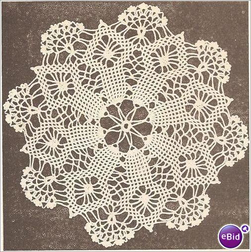 Crochet Doily Pattern Spider Web on eBid United Kingdom