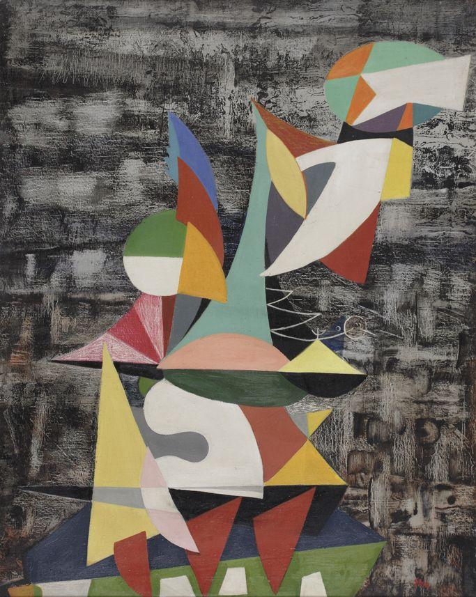 Jonasz Stern, [1957], olej/płótno, 102,5 x 81cm