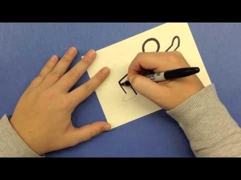 Keith Haring - Drawing Lesson - 3rd grade