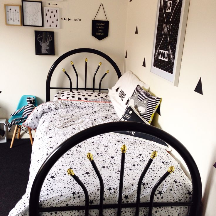 Boys room styled featuring YorkeLee prints.