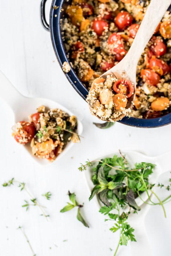 Couscoussalat mit mediterranem Ofengemüse – Perfekt zum Grillabend