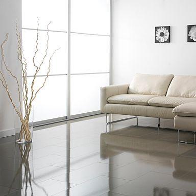 how to get black gloss floor tiles streak free