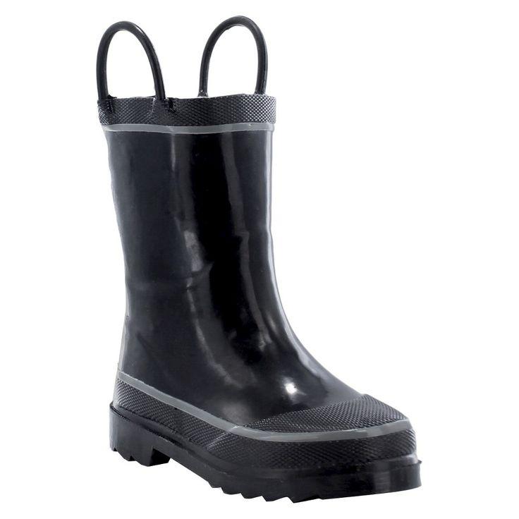 Western Chief Toddler Boys' Firechief 2 Rain Boots - Black 4, Toddler Boy's