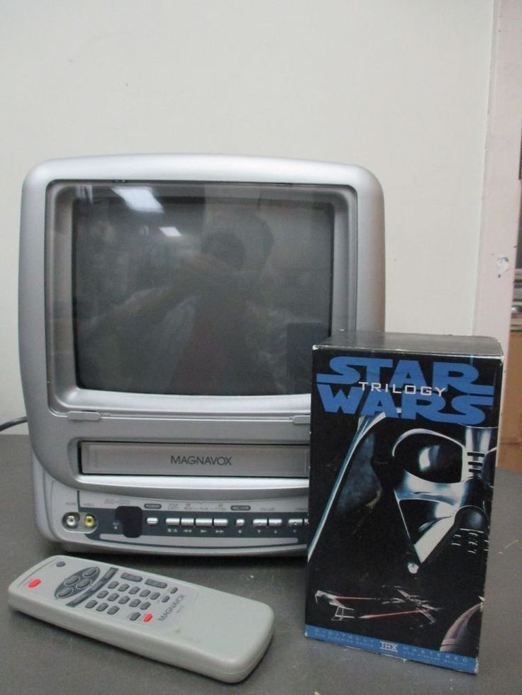 Magnavox Color TV VCR COMBO Model MC09D1MG01 With Remote & Star Wars Trilogy VHS #Magnavox