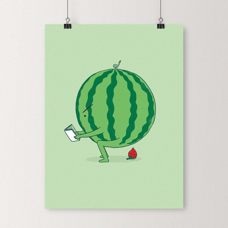 The making of strawberry - Art print | I Love Doodle - The visual art of Lim Heng Swee