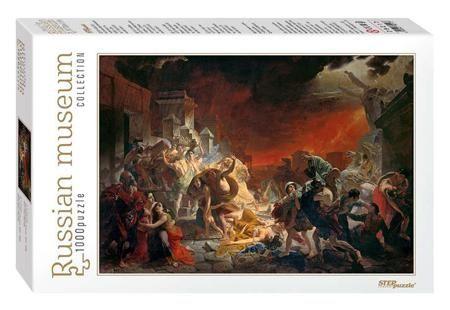 """Пазл Step puzzle 1000 эл. 680*480 Коллекция Русские музеи Последний день Помпеи  — 449 руб.  —  В основе сюжета пазла """"Последний день Помпеи"""" использована репродукция картины Карла Брюллова """"Последний день Помпеи"""". Первые наброски картины были сделаны в 1828 году, а закончена она была в 1833 году. Холст, масло. Высота оригинального полотна 465, 5 см, ширина - 651 см. Находится в экспозиции Русского музея в Санкт-Петербурге. Картина """"Последний день Помпеи"""" принадлежит кисти художника Карла…"""