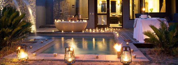 Enjoy romance, candles and bubbles at Londolozi