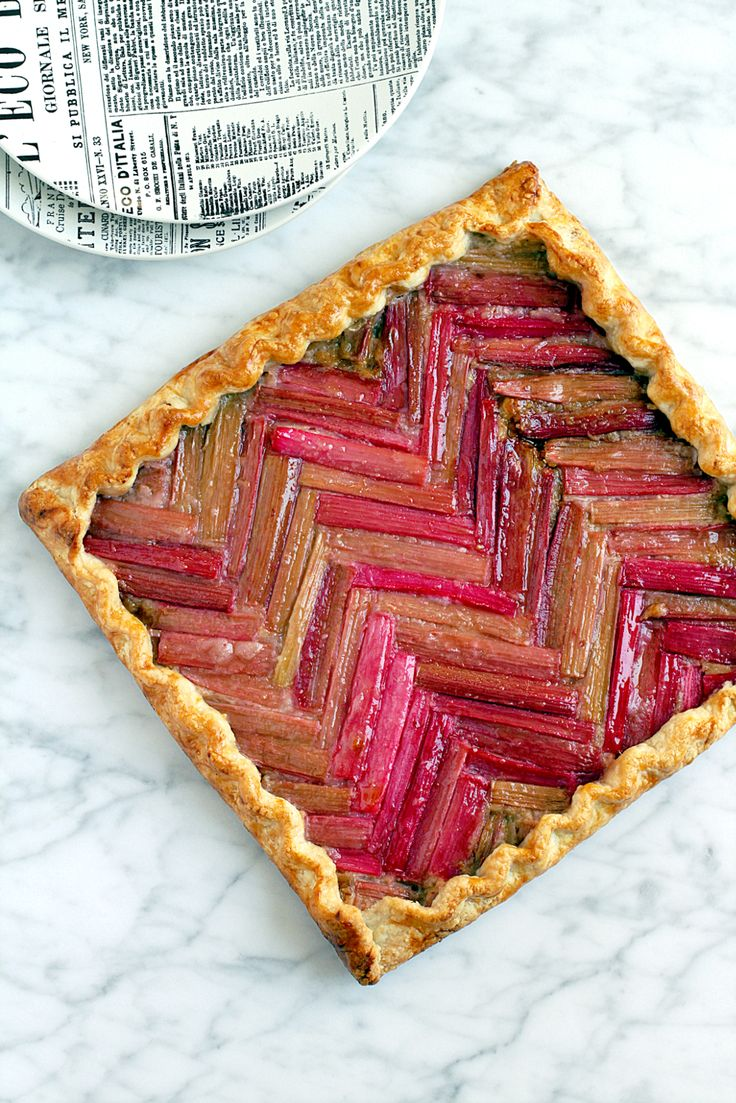 Two of a Kind | Honey Rhubarb Galette | http://www.twoofakindcooks.com