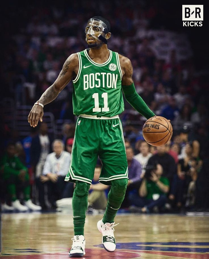 Masked Kyrie Irving Boston Celtics
