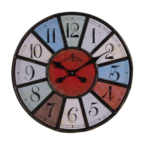 Round Multicoloured Clock