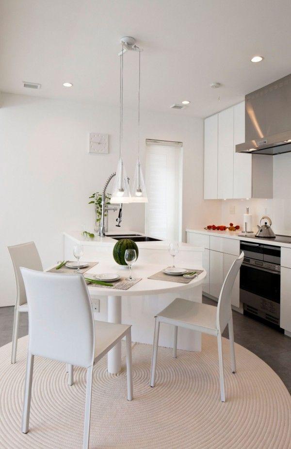 Dinning Room from White Modern Interior Design by RCK Design in Tokyo 600x925 White Modern Interior Design by RCK Design in Tokyo
