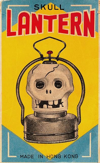 1960s Vintage Halloween Skull Lantern ad