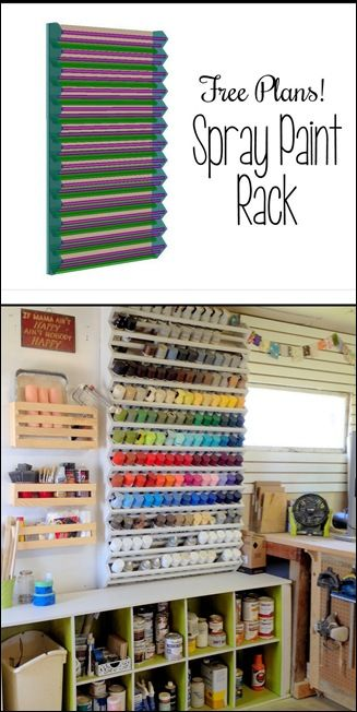 Giant Spray Paint Rack... FREE building plans! {Sawdust and Embryos}