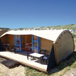 Camping Stortemelk, Vlieland, NL. Luxury tents in the dunes near the beach.