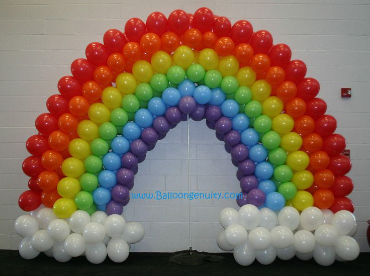 39 best images about anniversaire arc en ciel on pinterest for Balloon arch no helium