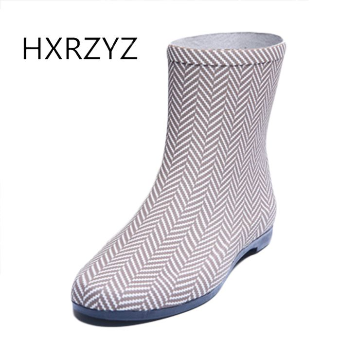 Spring and autumn shoes women new fashion women Rain Boots female ankle boots Slip-Resistant waterproof Rubber boots for women #Affiliate