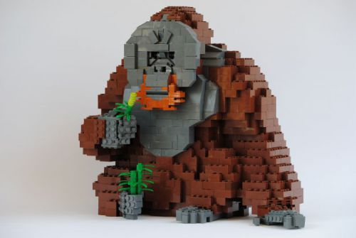 Orangutan: A LEGO® creation by The Actionfigure : MOCpages.com