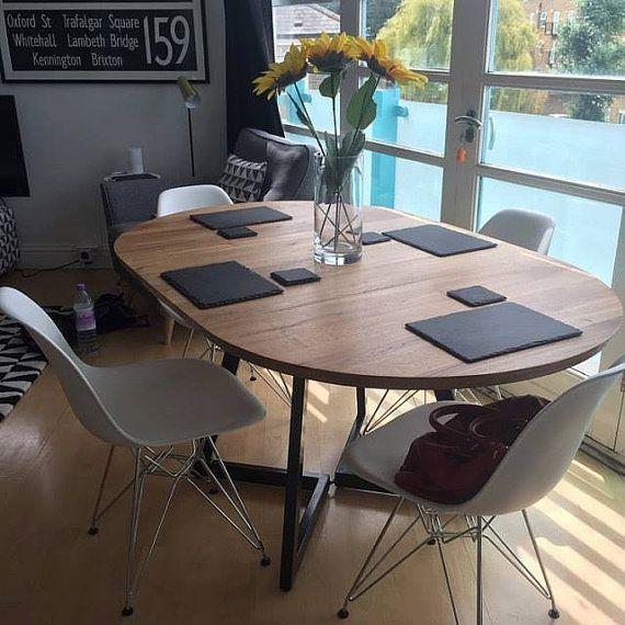 Ausziehbarer Runder Tisch Modernes Design Stahl Und Holz