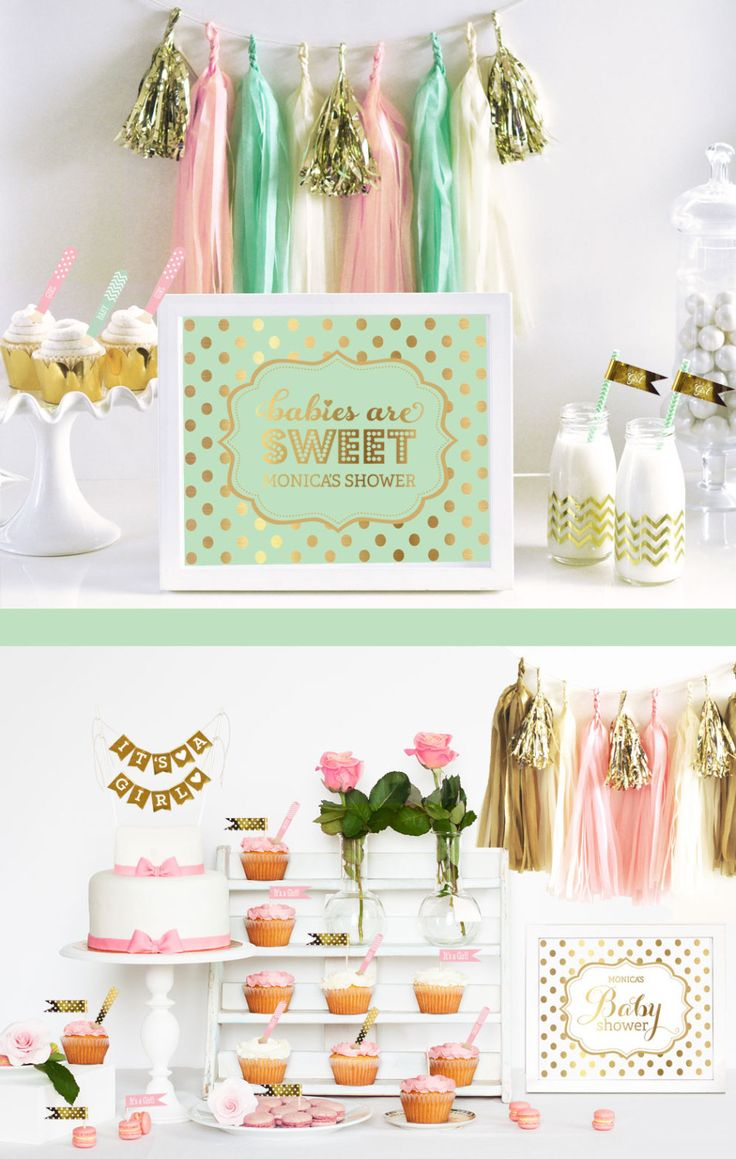 Gender neutral baby shower decorations Bridal shower