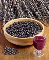 Acai berries from Brazil... best to have in thick icy crush drink topped with banana and granola