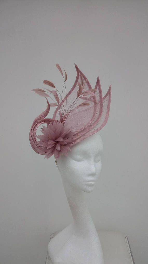 Women Large Sinamay Feather Fascinator Ladies Day Races Wedding Royal Ascot